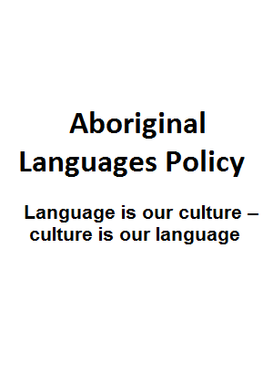 Aboriginal Languages Policy cover
