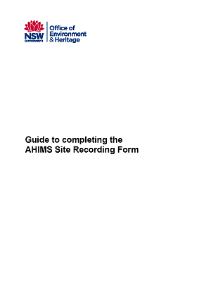 guide to completing the ahims site recording form nsw environment