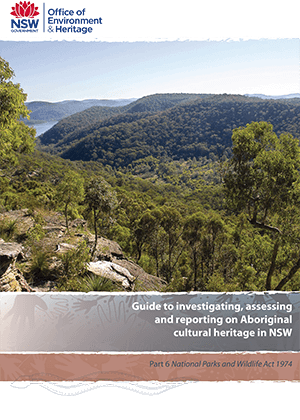 Guide to investigating, assessing and reporting on Aboriginal cultural heritage in NSW cover