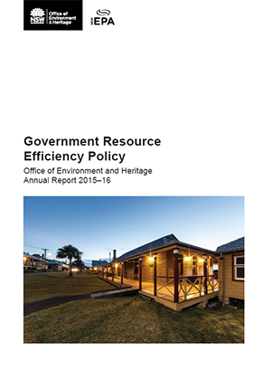 Government Resource Efficiency Policy: Office of Environment and Heritage Annual Report 2015–16