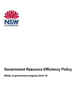 Government Resource Efficiency Policy Whole of government progress 2014–15