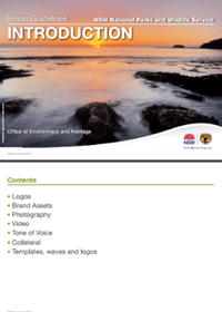 NSW National Parks and Wildlife Service Brand Guidelines cover