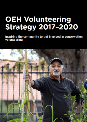 Cover image of OEH Volunteering Strategy 2017-2020