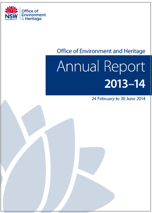 OEH Annual Report 2013-2014 cover