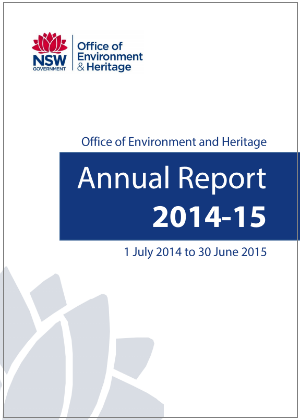 OEH Annual Report 2014-2015 cover