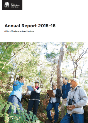 OEH Annual Report 2015-2016 cover