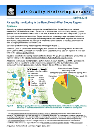 Namoi air quality seasonal newsletter spring 2018