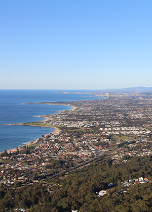 View from Sublime Point looking to the southern Illawarra
