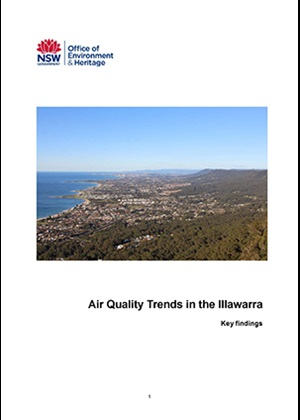Air quality trends in the Illawarra, key findings, cover