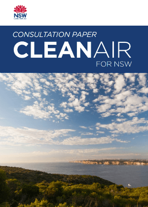 Clean Air for NSW Consultation Paper cover