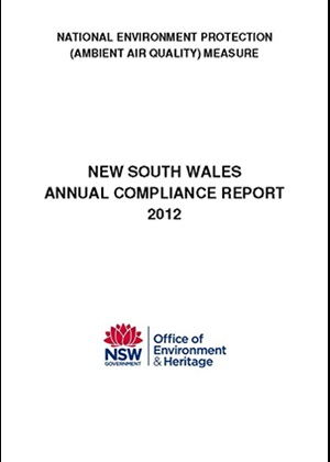 National Environment Protection Measure (Ambient air quality) NSW compliance report 2012 cover
