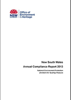 National Environment Protection Measure (Ambient air quality) NSW compliance report 2013 cover