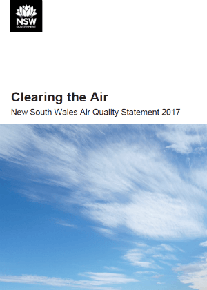 NSW Air Quality Statement 2017 publication cover
