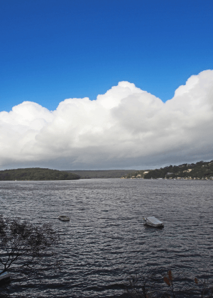 Storm over Royal National Park approaching Gymea Bay