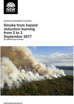 Particle episode due to hazard reduction burning from 2 to 3 September 2017