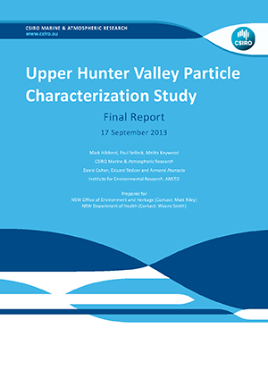 Lower Hunter particle characterisation study final report cover
