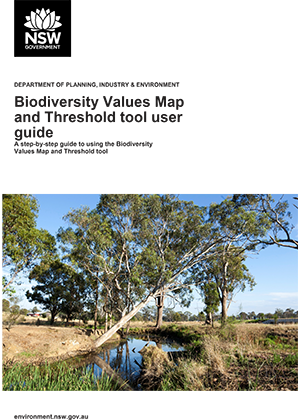 Biodiversity Values Map and Threshold tool user guide