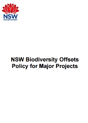 NSW Biodiversity Offsets Policy for Major Projects