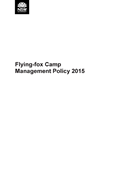Flying-fox Camp Management Policy 2015 cover