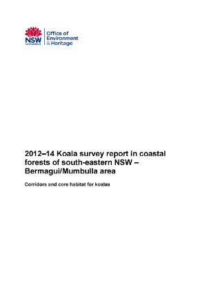 Koala Survey Report 2012-14 Bermagui Mumbulla Area cover