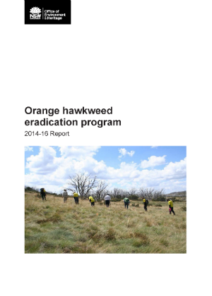 Orange hawkweed eradication program 2014-16 report cover