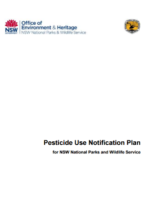 Pesticide use notification plan publication cover