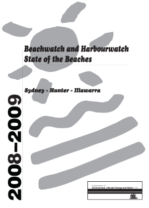 Cover for Beachwatch and Harbourwatch State of the Beaches 2008 2009