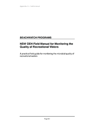 Cover of Protocol field manual to monitor water quality in recreational waters