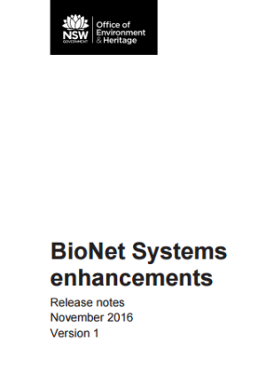 BioNet Systems enhancements Release notes