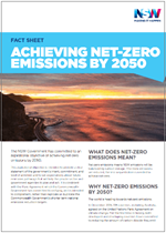 Achieving net-zero emissions by 2015 fact sheet cover