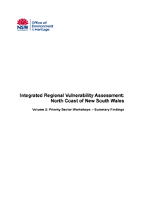 Integrated Regional Vulnerability Assessment North Coast of NSW Volume 2 cover