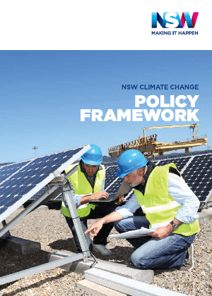NSW Climate Change Policy Framework cover