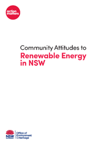 Community Attitudes to Renewable Energy in NSW cover