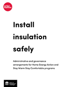 Cover of Install insulation safely guide