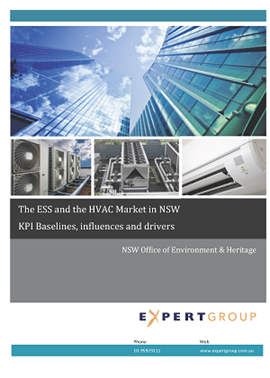 Cover of The ESS and the HVAC Market in NSW: KPI Baselines, influences and drivers