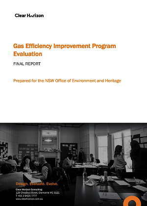 Cover of Gas Efficiency Improvement Program Evaluation: Final report