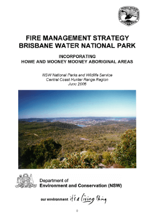 Brisbane Water National Park Fire Management Strategy