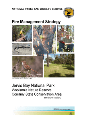 Jervis Bay National Park, Woollamia Nature Reserve and Corramy State Conservation Area Fire Management Strategy