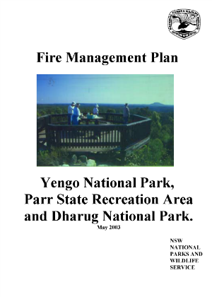 Yengo National Park, Parr State Recreation Area and Dharug National Park Fire Management Strategy