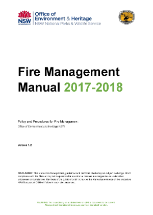 Fire Management Manual 2017-2018 cover