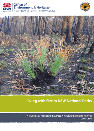 Living with fire in NSW National Parks strategy 2012-2021 cover