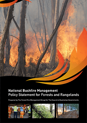National Bushfire Management: Policy Statement for Forests and Rangelands cover