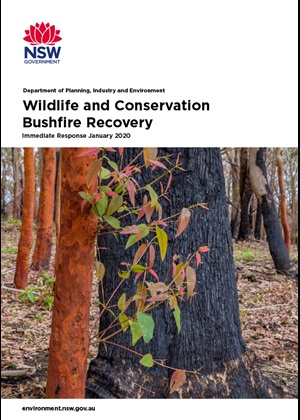 Wildlife and Conservation Bushfire Recovery - Immediate Response Plan January 2020 cover