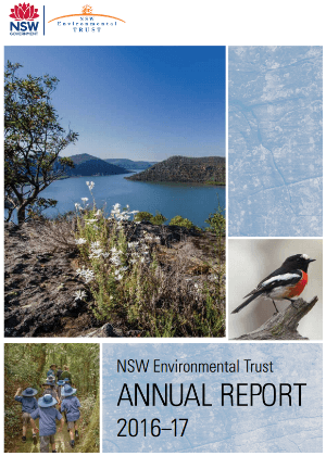 NSW Environmental Trust Annual Report 2016-17 cover