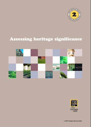 cover of publication Accessing Heritage Significance