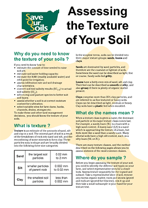 Cover o Assessing the Texture of Your Soil