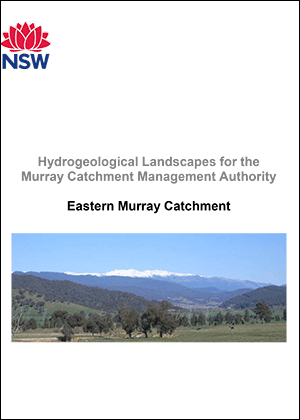 Cover for Hydrogeological Landscapes for the Eastern Murray Catchment