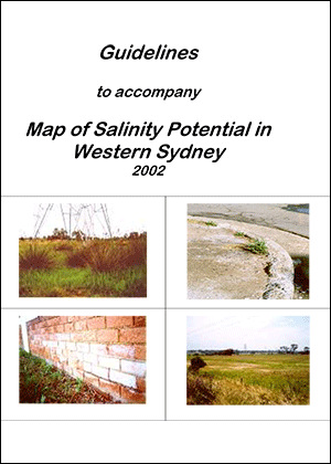 Cover for Guidelines to Accompany Map of Salinity Potential in Western Sydney