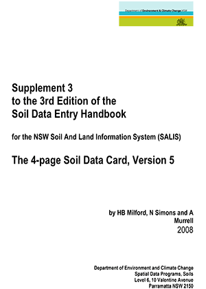 Cover of Supplement 3 to the 3rd Edition of the Soil Data Entry Handbook