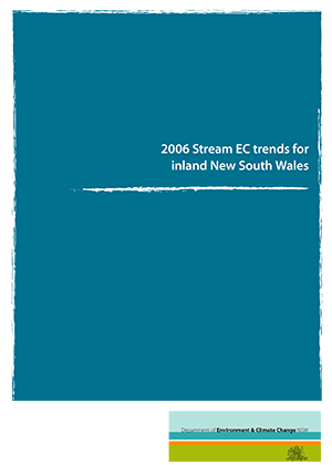 Cover for 2006 Stream EC trends for inland New South Wales